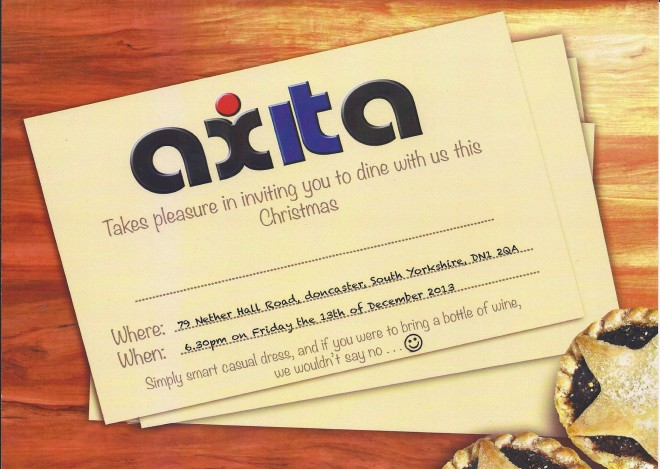 Axita Christmas invite