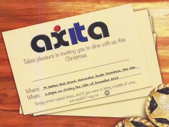 Axita Christmas invite